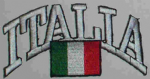 Italy Embroidered Flag Patch, style 03.